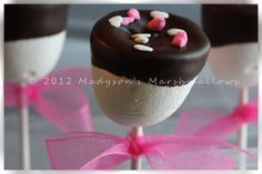 Lovely Pink Marshmallow Pops by Madyson's Marshmallows