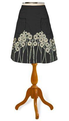 Floral embellished patch pocket skirt - skirts with pockets make life worth living.