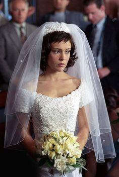St. Tropez Custom Made Wedding Dress and Charmed Photograph