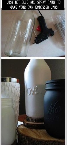 Crafty project painting bottles DIY
