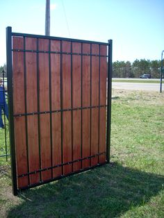 Metal and Wood Privacy Fence