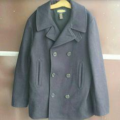 Ralph Lauren Rugby Peacoat Coat Blue peacoat. 100% Wool. Ralph Lauren Jackets & Coats Pea Coats