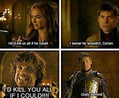 Tyrion vs Carsei, Jaime & the whole of Westeros