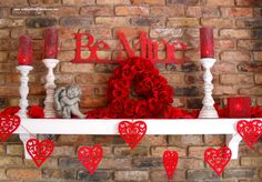 valentine, st-valentin, decor, red, holiday, fête, cute, love, candles, couple, heart, coeur, rouge
