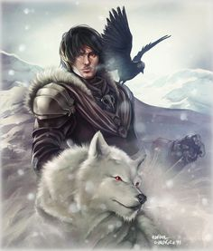 Lord Snow by *Dr-Salvador on deviantART [ male, warrior, ranger, GoT ]: http://dr-salvador.deviantart.com/art/Lord-Snow-213179931?q=gallery%3Adr-salvador%2F139839=5