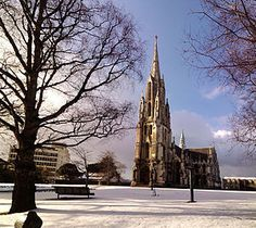 Winter snowfall - Dunedin, New Zealand