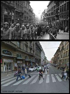 Prigionieri Alleati in transito a Roma in  Via del Tritone  #Marzo1944