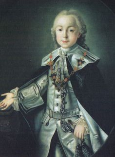 Paul I of Russia as a youth - Paul was taken from his mother at birth and withheld from her presence except during very limited moments, that having done her duty in providing an heir to the throne, Elizabeth had no more use for Catherine, who was then forbidden from seeing the child.