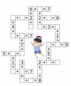 Coloring Pages, Education, Learning: Math Activities Preschool Printables Kindergarten Math Activities For Toddlers, Kindergarten Math Activities, Kids Math Worksheets, Maths Puzzles, Preschool Printables, Homeschool Math, Math For Kids, Fun Math, Teaching Math