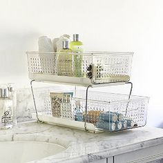 2 Tier Organiser in bathroom storage at Lakeland Craft Room Storage, Bedroom Storage, Storage Organization, Storage Ideas, Small Storage, Storage Baskets, Under Sink, Awesome Bedrooms, Getting Organized