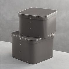 Bigso® Grey Square Storage Boxes Set of Two