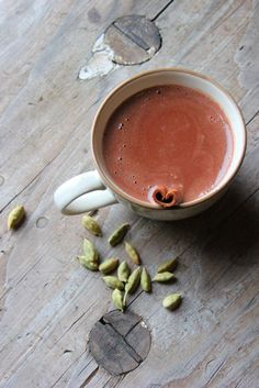 Chai Spiced Hot Chocolate- this sounds delicious and I like that it's made with almond milk.