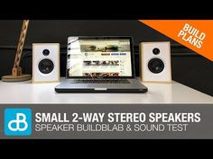 Small 2-Way Stereo SPEAKER BUILDBLAB & SOUND TEST - by SoundBlab - YouTube Hifi Audio, Stereo Speakers, 2 Way, Fun Projects, Coding, How To Plan, Phone, Youtube, Telephone