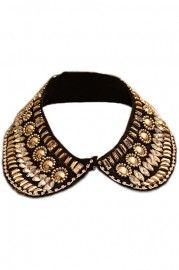 Paillette Pearl Detachable Collar    $22.99    romwe.com #Romwe