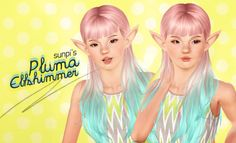 Pluma Elfshimmer the mischievous elf Howdy hoo! I've been getting quite a few questions regarding my female sims, so here's one of them :) She's shorter and smaller than the average sims (you may need the body sliders for it to appear, idk, but it's listed below)Edit: also, she's a fairy!  Skintone | Eyebrows (Default) | Contacts | Eyeshadow | Eyeliner | Blush | Lipstick | Hair | Top | Bottom Elven Ears Slider | Lip Pout Slider | Body Sliders  ♥♥ DOWNLOAD .sim f...