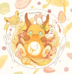 Raichu and Alolan Raichu  (Imagine that Raichu was being served at a dinner table and you can make the choice of either adopting them, feeding them and walk away happy, or you can make the choice of feasting on them. You would have to ignore the Raichu's cries as it begs for mercy not to be eaten and endure seeing the Raichu's face in such a creepily disheveled state. You have to stab the poor Raichu's belly in order to get to the good stuff. My, that was one creepy story. If you have a…