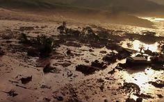 Barragem se rompeu e encheu distrito com rejeitos