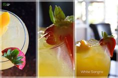 White Sangria White Sangria, Drink Recipes, Stuffed Peppers, Urban, Vegetables, Drinks, Food, Drinking, Beverages