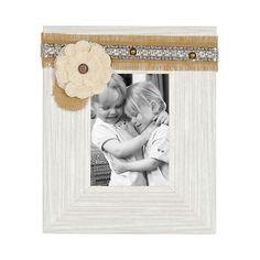 White Distressed Sadie Picture Frame, 5x7 | Kirklands
