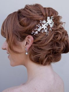 Hair Comes the Bride - Elegant Crystal Flower Bridal Hair Comb ~Valerie, $64.00 (http://www.haircomesthebride.com/elegant-crystal-flower-bridal-hair-comb-valerie/)