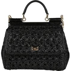 Dolce & Gabbana Shoulder Bags (62,745 PHP) ❤ liked on Polyvore featuring bags, handbags, shoulder bags, black, genuine leather handbags, genuine leather shoulder bag, embroidered purse, shoulder bag purse and leather purses