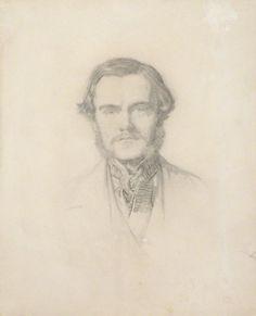 John Everett Millais, 'William Holman Hunt', 1853. Pencil, 23.5 x 18.9 cm. Source: National Portrait Gallery.