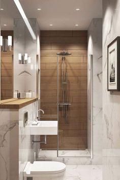 The most private space in the house is the bathroom. Small space but can restore our body's freshness. For that decorative touch is needed to design the bathroom so that it looks not boring and provides comfort for us.Having a… Continue Reading → Small Space Design, Bathroom Layout, Modern Bathroom Design, Bathroom Interior Design, Bathroom Small, Bathroom Ideas, Bathroom Designs, Bathroom Mirrors, Small Spaces