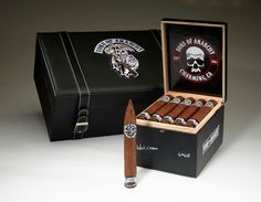 SONS OF ANARCHY CIGAR If you're a Sons of Anarchy fan it's time to get excited because they are getting their very own cigar! The motorcycle outlaw drama airs on FX and is already five seasons deep with a huge following. The cigar, the Black Crown Sons of Anarchy Edition, will debut in late August, right around the time the sixth season of the television show returns