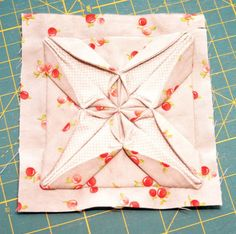 Block 24: Fabric origami – Textured quilt sampler | Sewn Up by TeresaDownUnder