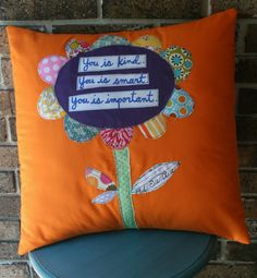 Flower Pillow :: quote from The Help