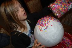 Kids Crafts: Crafts for Kids-Balloon Bowl made with Confetti