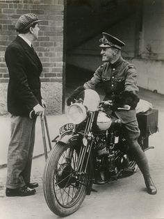 T. E. Lawrence (astride his Brough Superior SS100 motorcycle, 1920) [MS. Photogr. c. 126, fol. 34r.]