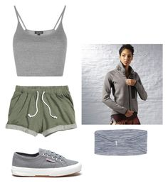 """Grey"" by carlafashion-246 ❤ liked on Polyvore featuring Superga, Topshop, Reebok and Columbia"