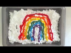 hello, Wonderful - RAINBOW SHAVING CREAM MARBLED ART