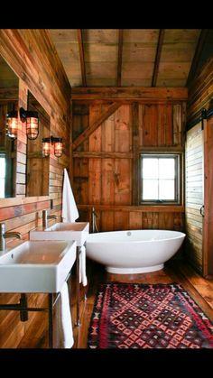 Bathroom Badezimmer Waschbecken, Badezimmer Rustikal, Badewanne, Badezimmer  Landhausstil, Bauernhaus, Haus Design