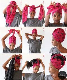 Turbante.se: Tutorial Moicano & Moicano Plus Foto: Angeluci Figueiredo African Men Fashion, African Wear, African Fashion Dresses, Ghanaian Fashion, African Women, Moda Afro, Mode Turban, Hair Wrap Scarf, Head Scarf Styles