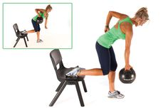 Tone up your arms and strengthen your back muscles with this medicine ball workout. DO IT TODAY! :)