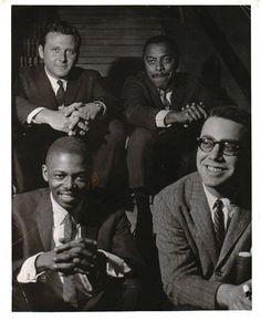 L-R Jimmy Garrison, Steve Kuhn Back row, Stan Getz, Roy Haynes