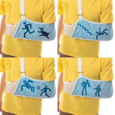 Arm slings that show how you broke your arm. I have a feeling I should just buy in bulk.