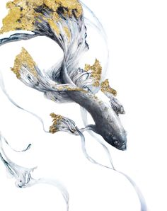 Facts about koi fish ponds including the different aspects included in a koi pond and how care for koi fish successfully. Koi Art, Fish Art, Gold Leaf Art, Feuille D'or, Mural Art, Wall Art, Encaustic Art, Asian Art, Japanese Art