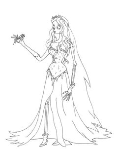corpse bride coloring pages free coloring