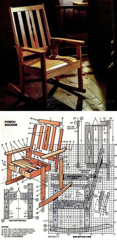 Solid Oak Rocking Chair Plans - Furniture Plans and Projects | WoodArchivist.com