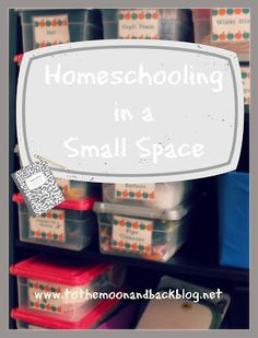 Homeschooling in a Small Space. Super ideas!