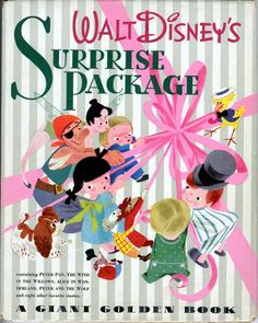 Surprise Package was published by Disney in 1944 as a Giant Golden Book.  It is a compilation of 12 stories that were all in various stages of development at the studio.
