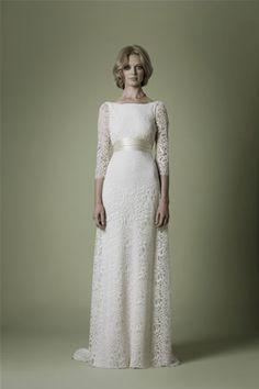 1960s Wedding Dress - Vintage 60s Ivory Lace Mod Mini-Length ...