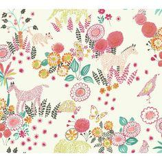 "York Wallcoverings Waverly Kids 27' x 27"" Reverie Floral Roll Wallpaper & Reviews | Wayfair"