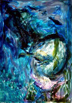 """Underwater"", Acrilic painting, by Ioana Bîrle"