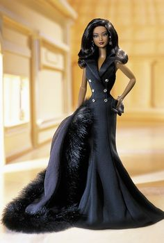 Looking for the Midnight Tuxedo Barbie Doll? Immerse yourself in Barbie history by visiting the official Barbie Signature Gallery today! Barbie Dress, Barbie Clothes, Glamour, Barbie Mode, Manequin, Diva Dolls, Dolls Dolls, African American Dolls, Beautiful Barbie Dolls