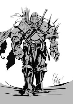 [RF] Bul, Warforged fighter for u/tshauver Dungeons And Dragons Characters, Dnd Characters, Fantasy Characters, Elves Fantasy, Fantasy Warrior, Fantasy Art, Fantasy Character Design, Character Drawing, Character Concept