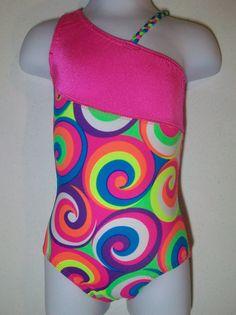 gymnastics leotard  girls sizes 513 Asymetrical by karinasworld, $20.00 addy